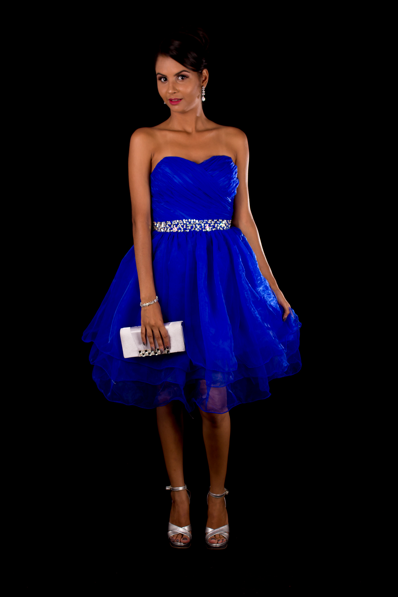 Vestidos curtos azul royal