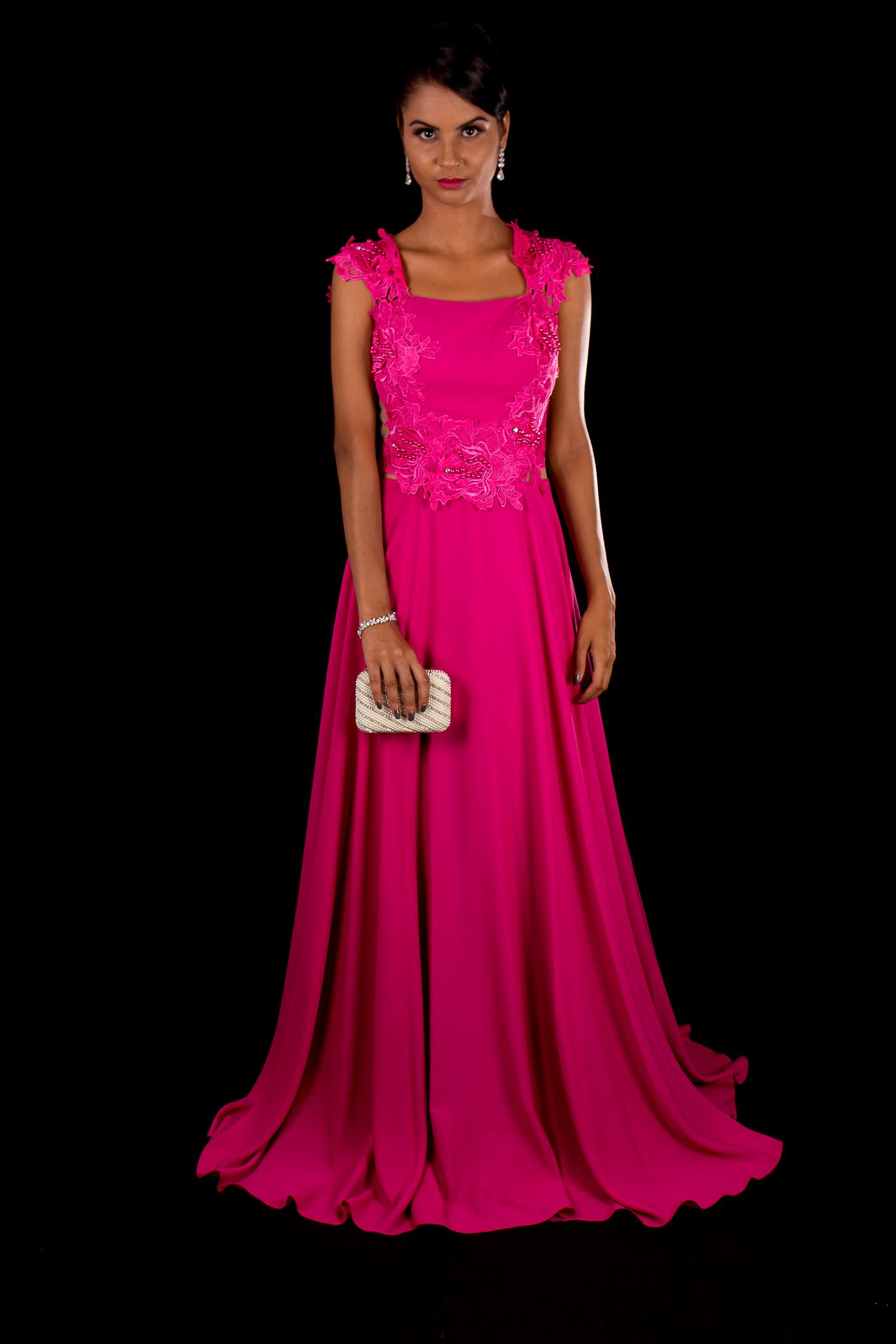 Bolsa De Festa Para Vestido Rosa : Vestido festa longo pink fino traje moda