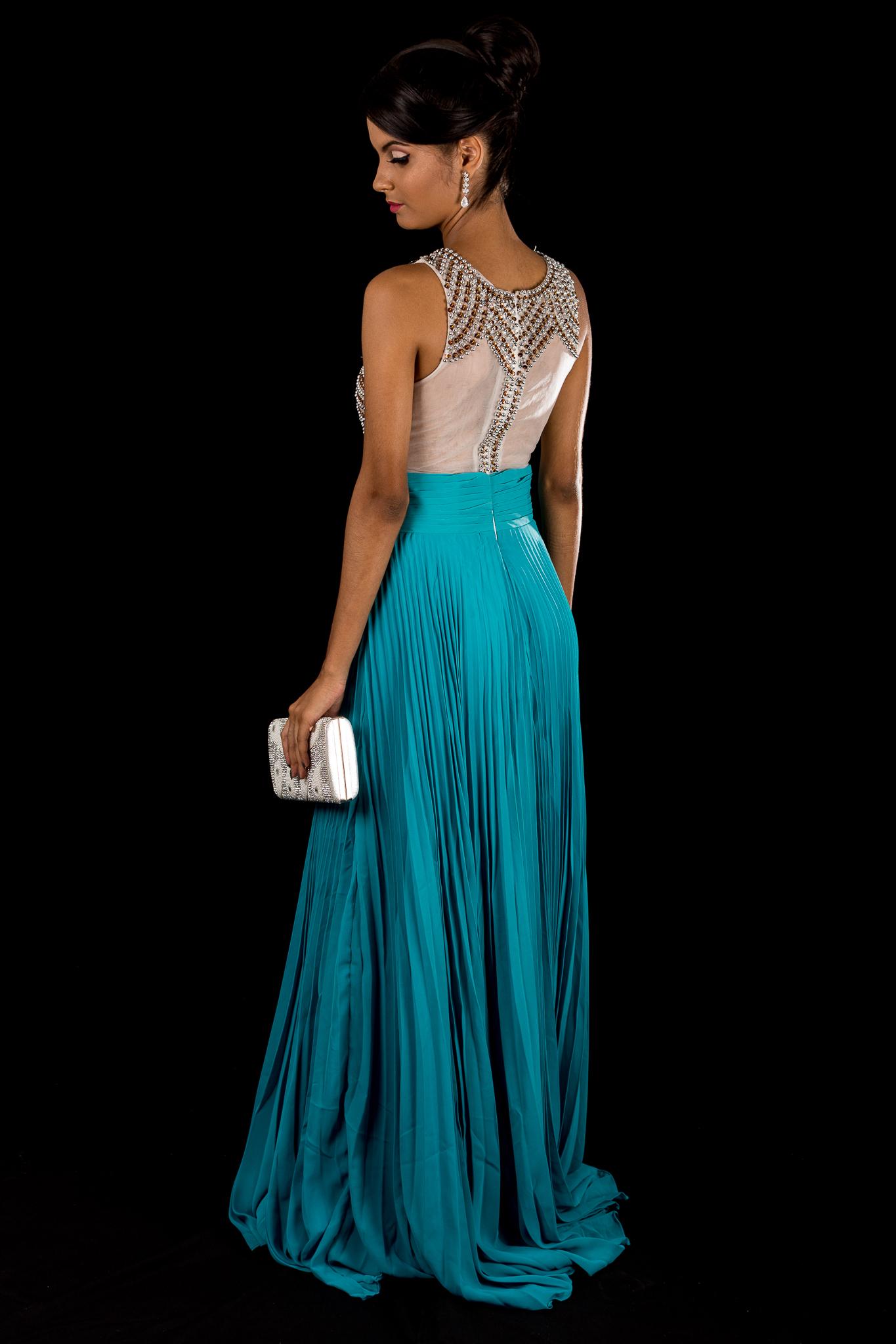 Vestido longo verde esmeralda comprar
