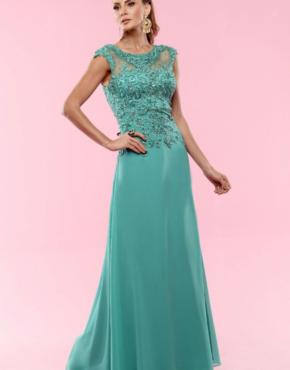 Vestido de festa verde esmeralda curto