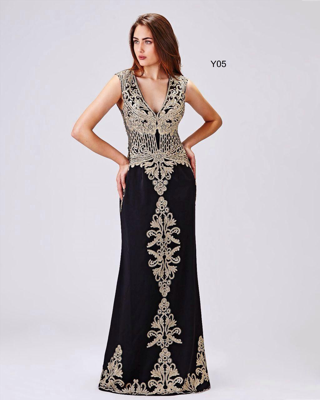 c4be55bba Vestido de Festa Preto com Detalhes Dourados Aluguel de Vestidos de Festa  Longos no RJ. Vestido luxo!