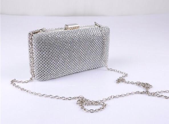47ab88801 Bolsa clutch prata retangular – Aluguel de Vestidos de Festa RJ ...