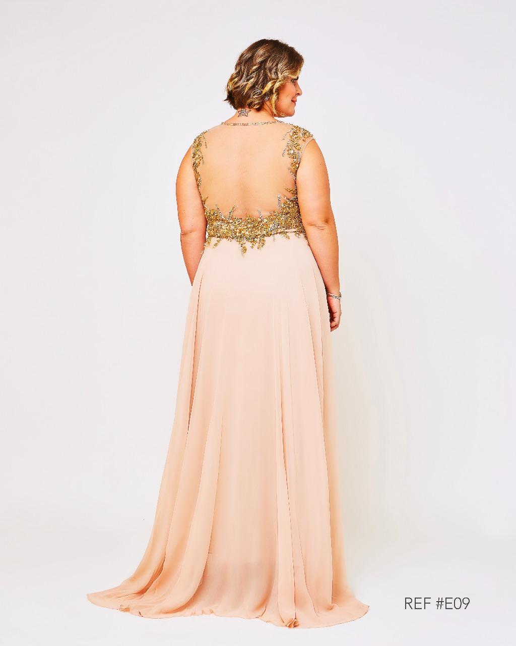 e2fc1be71 Vestido de Festa Dourado Luxo Plus Size – Aluguel de Vestidos de ...