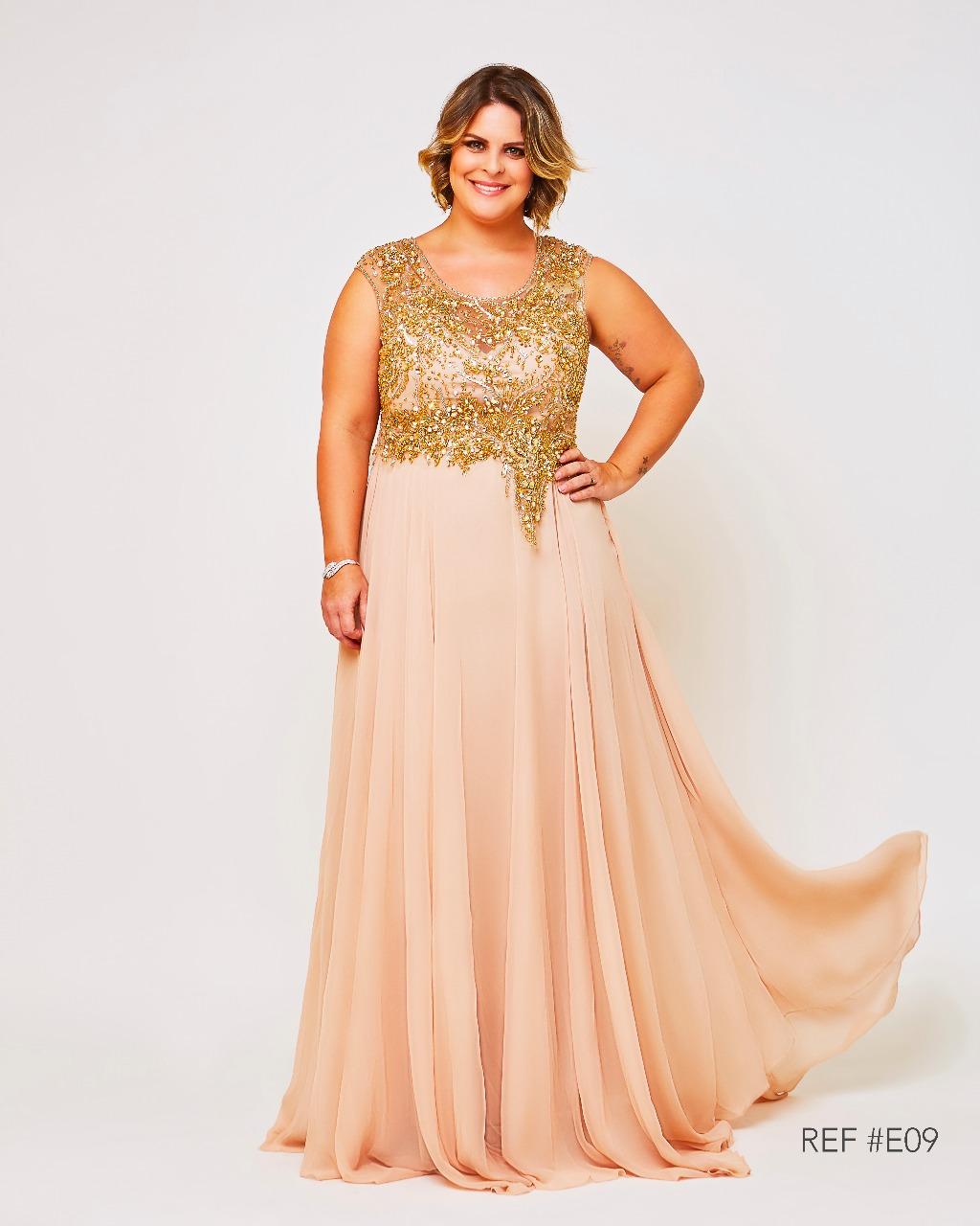 213f9014c Vestido de Festa Dourado Luxo Plus Size – Aluguel de Vestidos de ...