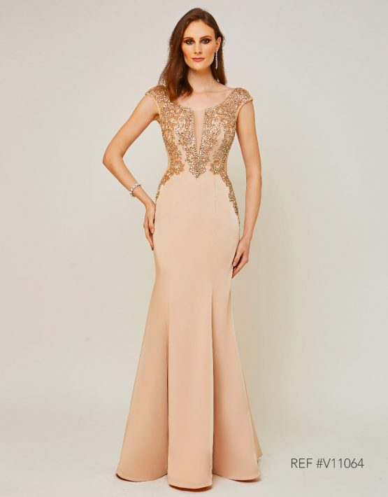 Vestido de Festa Dourado Realeza - Fino Traje Moda Festa