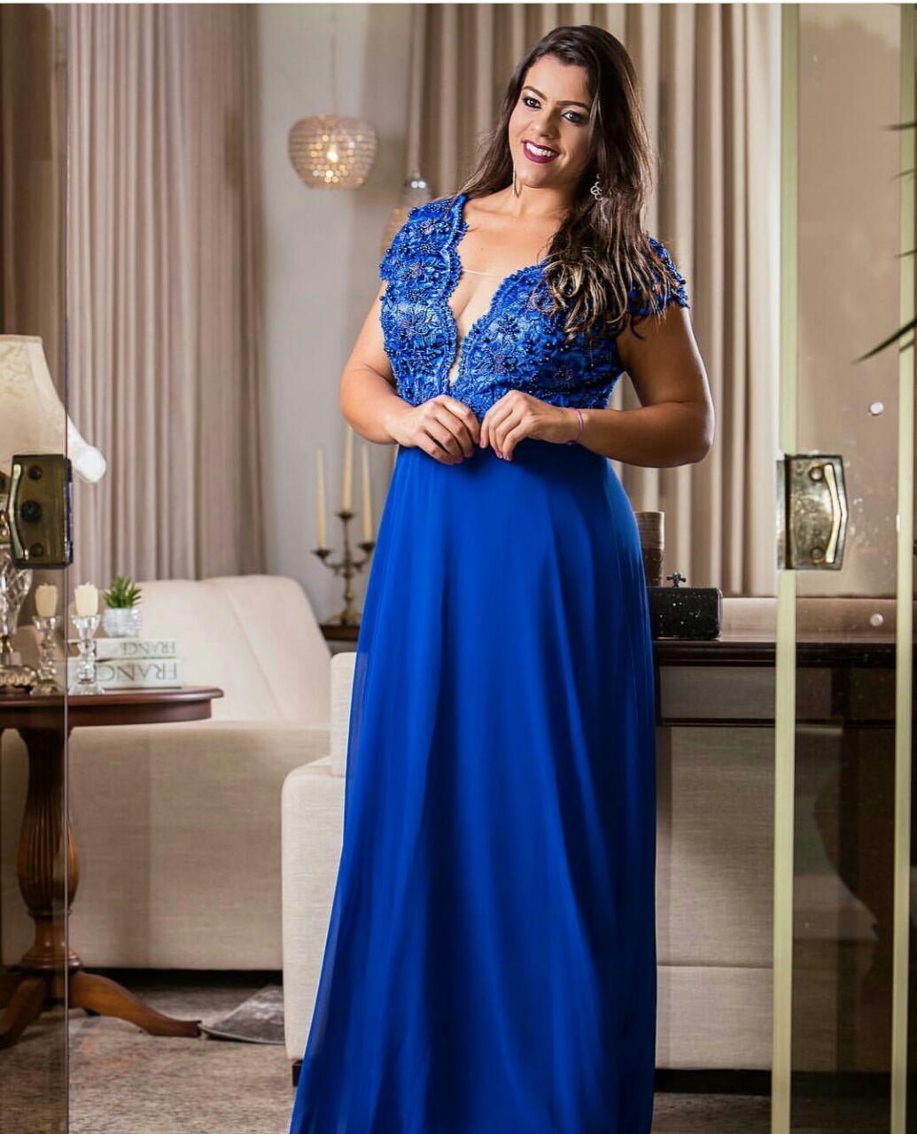 Vestidos longos azul royal