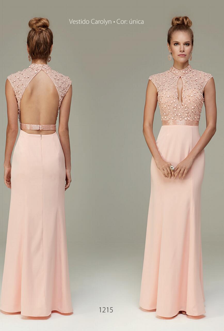 Bolsa De Festa Para Vestido Rosa : Vestido de festa rosa gola alta fino traje moda