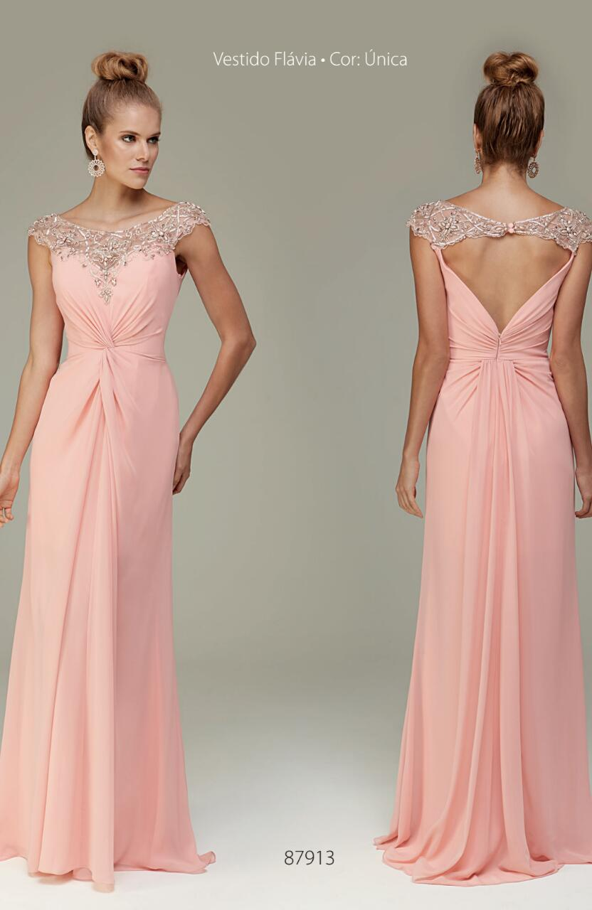 28526f631 Vestido de festa rosa com bordado delicado – Aluguel de Vestidos de Festa  RJ | Fino Traje Moda Festa | Rio de Janeiro