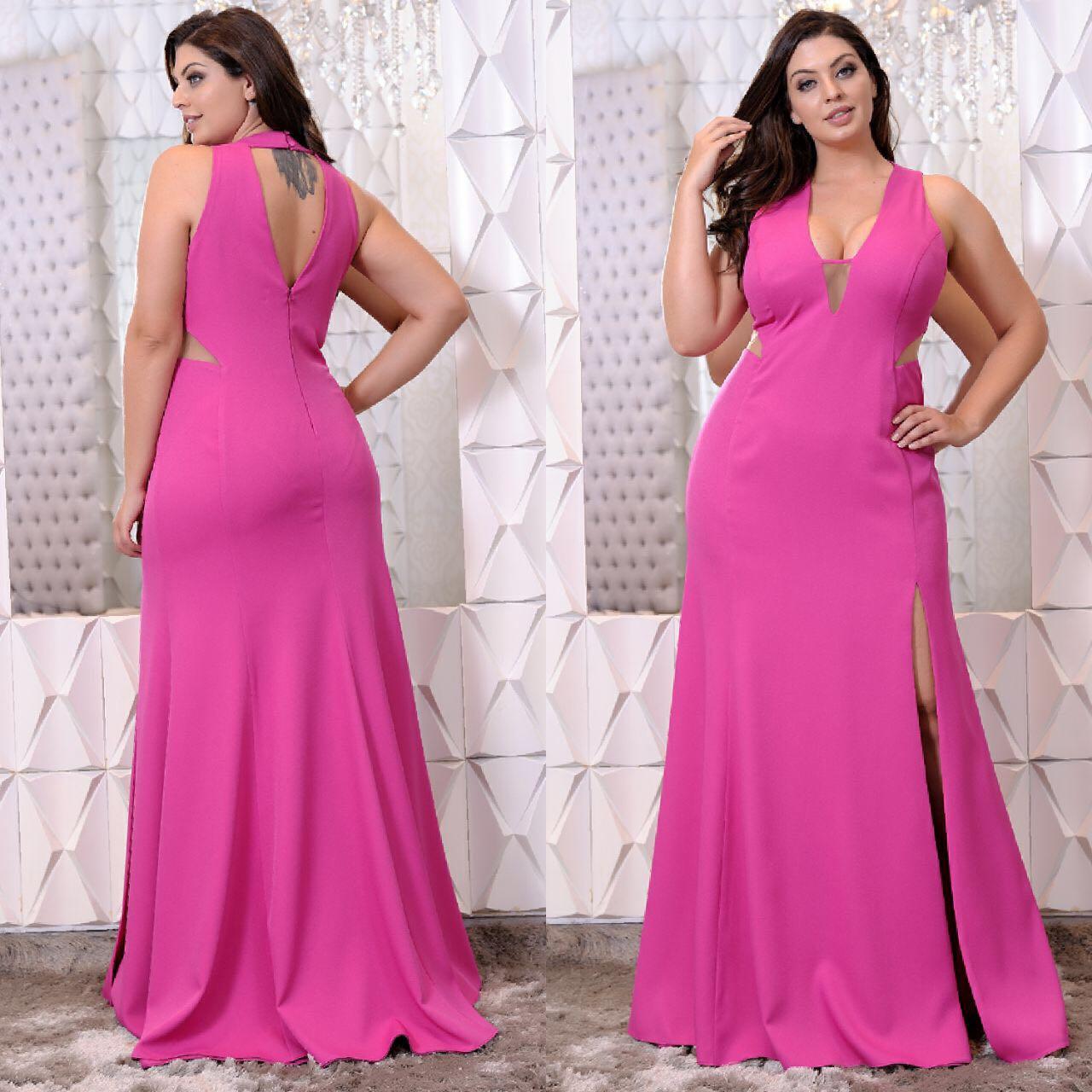 0a57a762d Vestido de festa pink minimalista Aluguel de Vestidos de Festa Longos no RJ,  Aluguel de Vestidos de Festa Plus Size no RJ