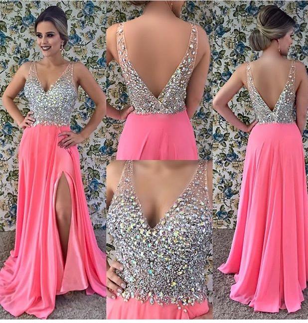 77da1edbf Vestido de festa rosa com bordado no busto – Aluguel de Vestidos de ...